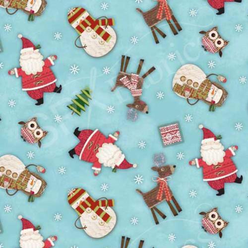 Tissu Noël patch 100% coton
