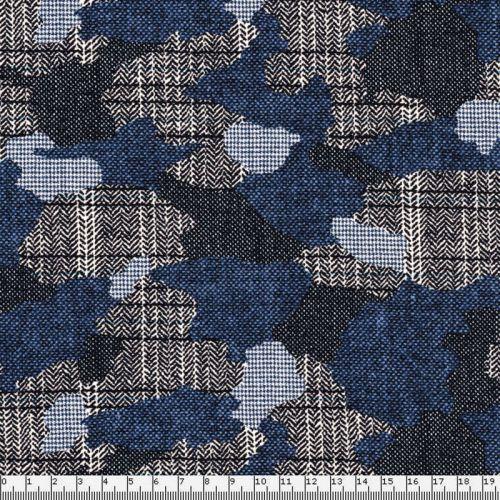 Tissu French Terry camouflage élégant
