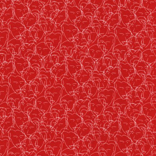 Tissu Viscose Lovely by Cherry Picking fond brique 100% visc