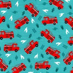 Tissu jersey camion de pompier phosphorescent