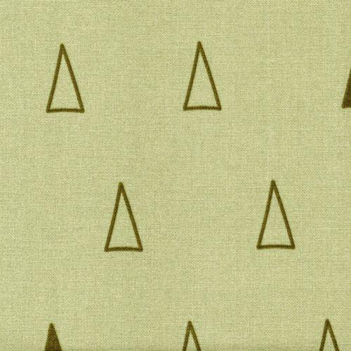 Tissu sapins graphiques fond vert