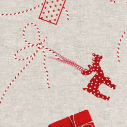 Tissu boites cadeaux fond beige
