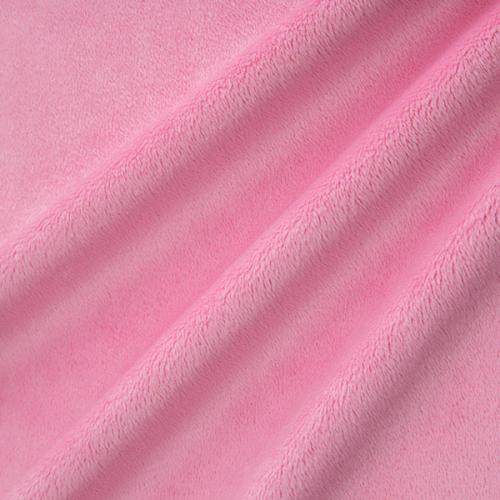Tissu Minky ras rose barbe à papa