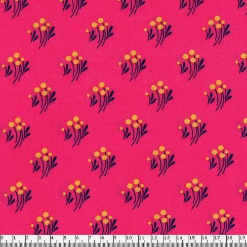 Tissu viscose petites fleurs fond rose