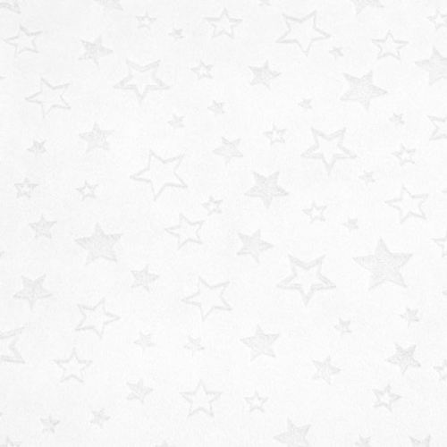 "Tissu Minky étoiles ""dévorées"" blanc"