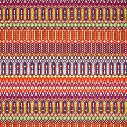 Tissu toile ottoman aztèque