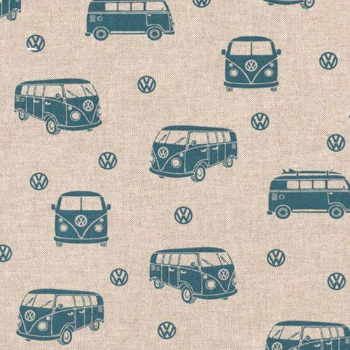 Tissu toile aspect lin VW combi
