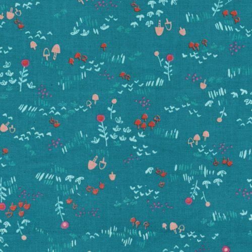 Tissu 100%coton larg 110 cm fleurs kawaii