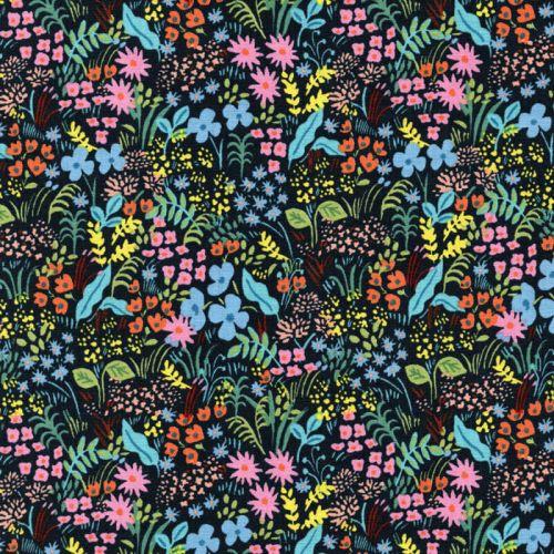 Tissu English garden fleuri 100%coton larg 110 cm