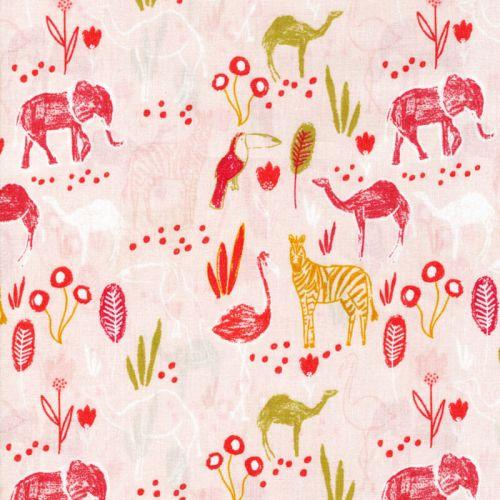 Tissu safari Poppy 100%coton larg 140 cm