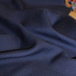 Tissu viscose crêpe bleu atlantique - Eglantine et Zoé