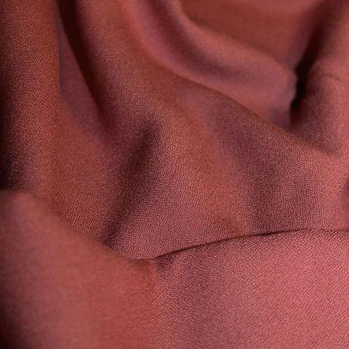 Tissu viscose crêpe terracotta - Eglantine et Zoé