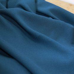 Tissu viscose crêpe bleu pétrole - Eglantine et Zoé