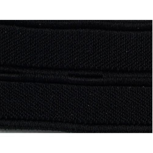 Elastique boutonnière 20 mm noir