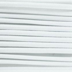 Cordon élastique diamètre 3 mm blanc