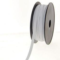 Elastique tresse plate 12 gommes 8.5 mm de largeur blanc