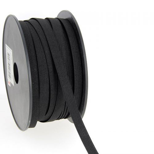 Elastique maille 10 mm noir