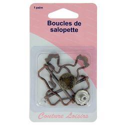 Boucles salopette bronze X2