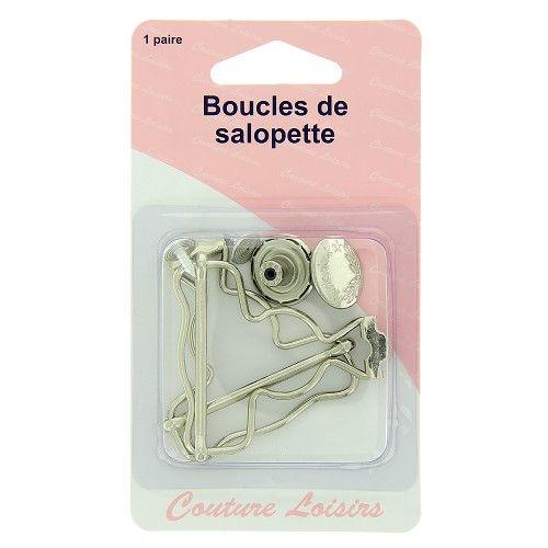 Boucles salopettes nickelées X2