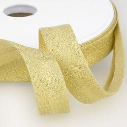 Biais Lurex 16 mm doré