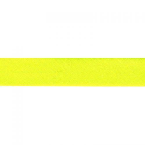 Biais jaune fluo 20 mm
