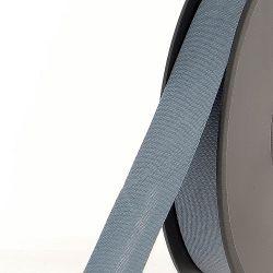 Biais replié 20 mm 50 % coton/50 % poly gris acier