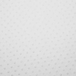 Tissu Minky dot blanc neige largeur 150