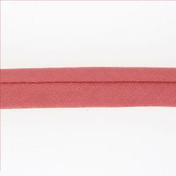 Passepoil ameublement 20 mm  cordon diam 5 mm rose 50% poly/ 50% coton