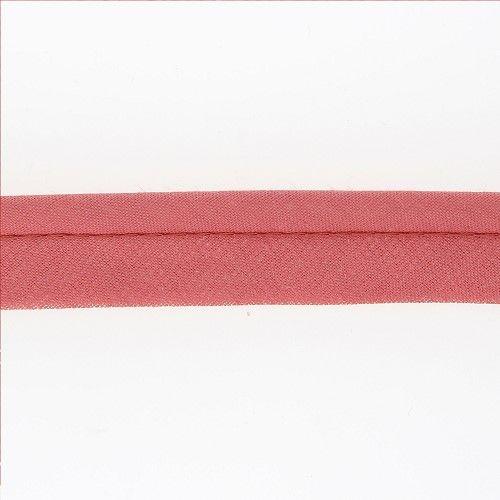 Passepoil ameublement 20 mm  cordon diam 5 mm rose 50% poly/ 50% coton