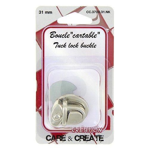 """Boucle """" cartable"""" 31 mm argent"""
