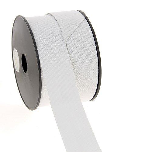 Elastique maille 40 mm blanc