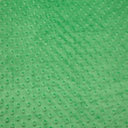 Tissu Minky dot vert grenouille  largeur 150 cm