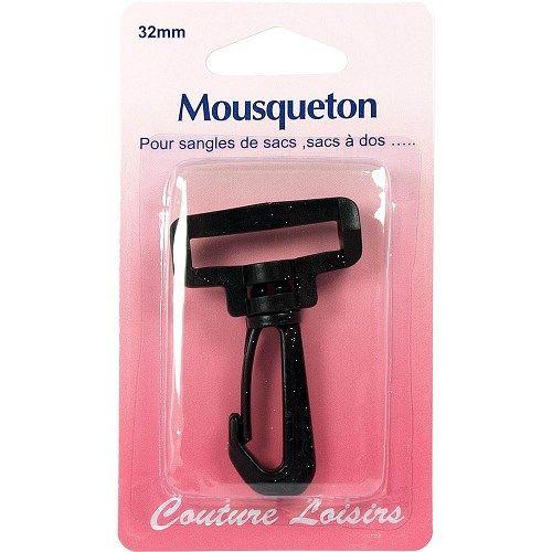 Mousqueton pour sangle 32 mm col.noir