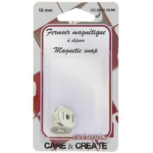Fermoir magnétique 18 mm col. argent