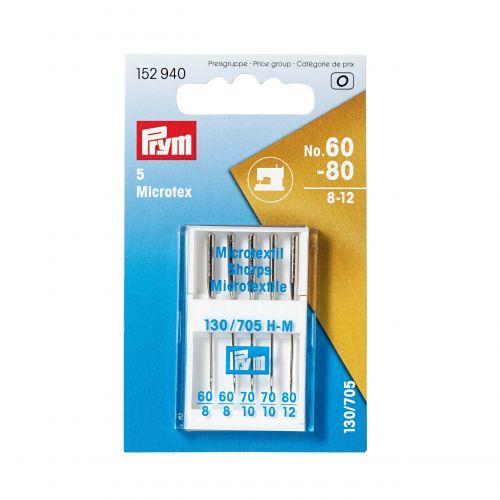 Aiguille machine microtex soie 60-80 X 5