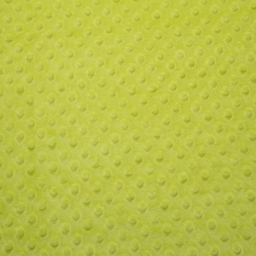 Tissu Minky dot vert pomme largeur 150
