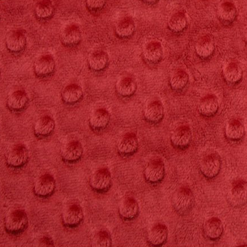 Tissu Minky dot pourpre largeur 150