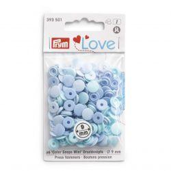 Pressions color snaps mini bleu 36 pc