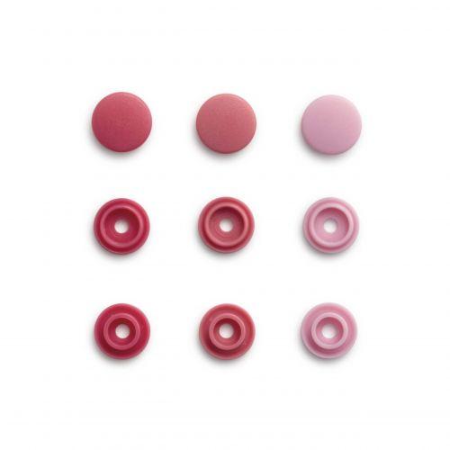 Pressions color snaps mini rosé 36 pc