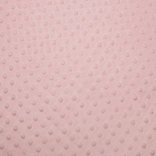Tissu Minky dot rose layette largeur 150