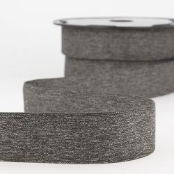 Elastique boxer 32 mm 50%ny/34%lat/15%pol gris chiné foncé