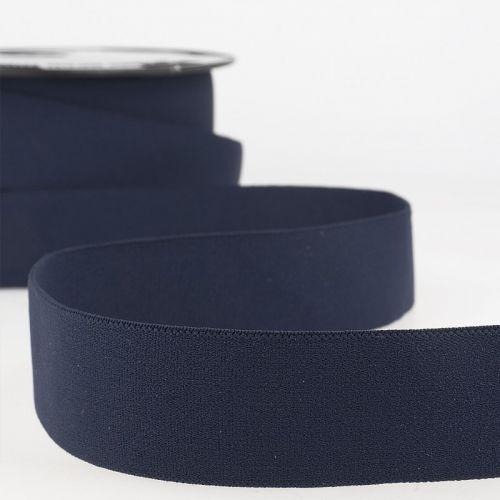 Elastique boxer 32 mm 50%ny/34%lat/15%pol bleu marine