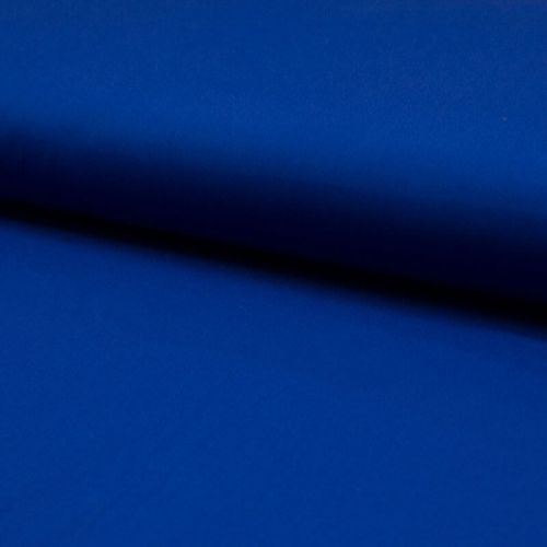 Tissu popeline unie bleu roi