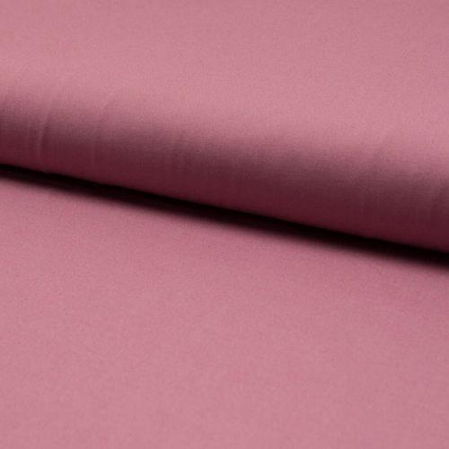 Tissu popeline unie vieux rose larg 145 cm
