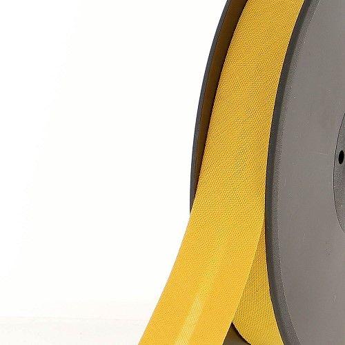 Biais replié 20 mm 50 % coton/50 % poly jaune
