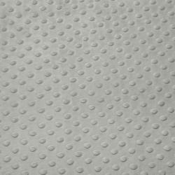 Tissu Minky dot gris platine largeur 150 cm
