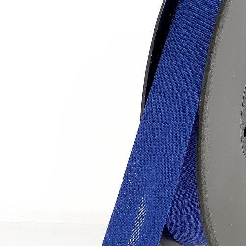 Biais replié 20 mm 50 % coton/50 % poly bleu roi