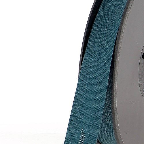Biais replié 20 mm 50 % coton/50 % poly bleu canard