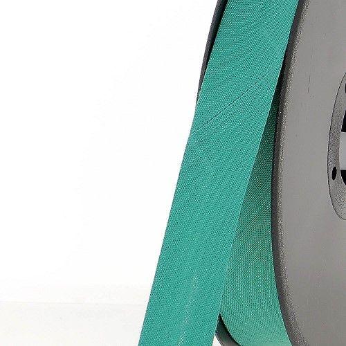 Biais replié 20 mm 50 % coton/50 % poly vert