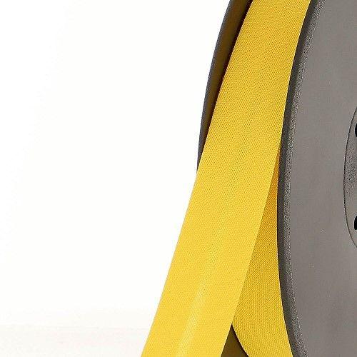 Biais replié 20 mm 50 % coton/50 % poly jaune soleil